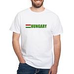 Hungary Flag White T-Shirt