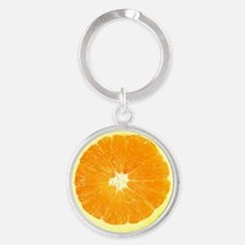 Orange Slice  Round Keychain