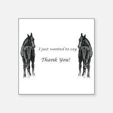 2 foals Thank You Sticker