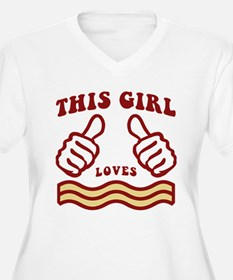 This Girl Loves Bacon Plus Size T-Shirt