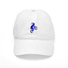 Blue Biker Baseball Cap