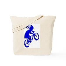 Blue Biker Tote Bag