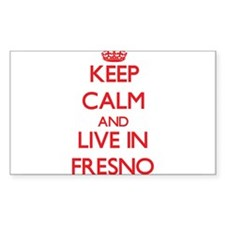 Keep Calm and Live in Fresno Decal