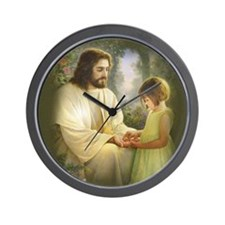 Jesus and child Wall Clock