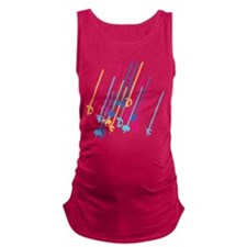 Sword salute in colour Maternity Tank Top
