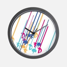 Sword salute in colour Wall Clock