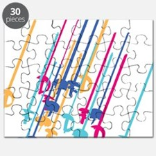 Sword salute in colour Puzzle