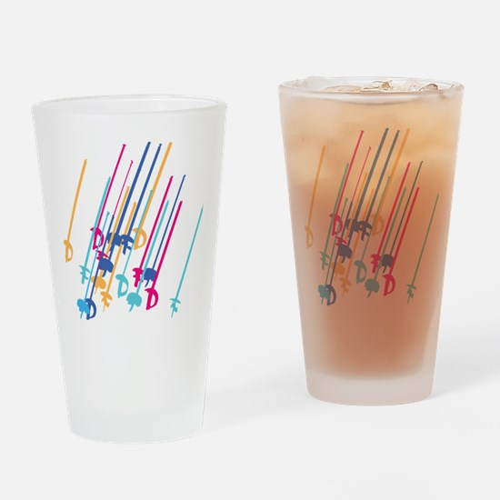 Sword salute in colour Drinking Glass