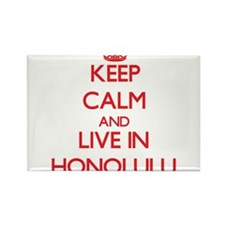 Keep Calm and Live in Honolulu Magnets