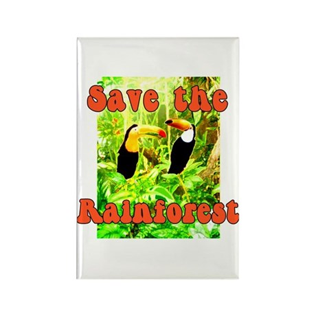 Save the Rain Forest Rectangle Magnet (10 pack)