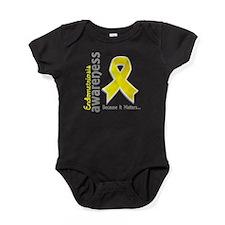 Awareness 5 Endometriosis Baby Bodysuit