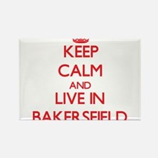 Keep Calm and Live in Bakersfield Magnets