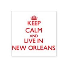 Keep Calm and Live in New Orleans Sticker