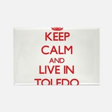 Keep Calm and Live in Toledo Magnets