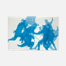 Blue invert enggagments tilt Rectangle Magnet