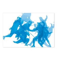Blue invert enggagments t Postcards (Package of 8)