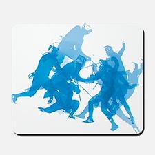 Blue invert enggagments tilt Mousepad