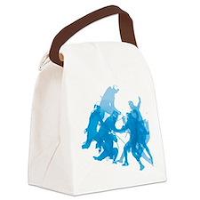 Blue invert enggagments tilt Canvas Lunch Bag