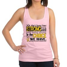 How Strong We Are Endometriosis Racerback Tank Top