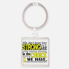 How Strong We Are Endometriosis Square Keychain