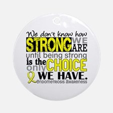 How Strong We Are Endometriosis Ornament (Round)