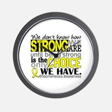 How Strong We Are Endometriosis Wall Clock