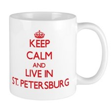 Keep Calm and Live in St. Petersburg Mugs