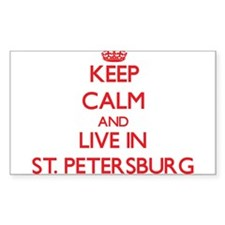 Keep Calm and Live in St. Petersburg Decal