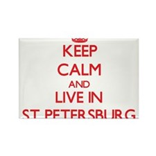 Keep Calm and Live in St. Petersburg Magnets
