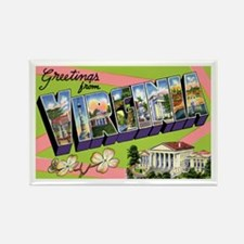 Virginia Greetings Rectangle Magnet (10 pack)