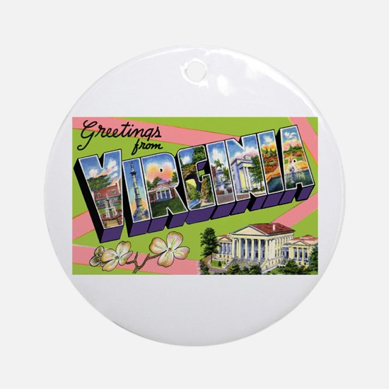 Virginia Greetings Ornament (Round)
