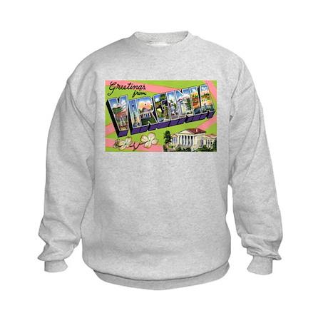 Virginia Greetings (Front) Kids Sweatshirt