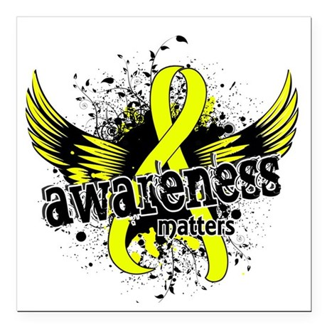 "Awareness 16 Endometrios Square Car Magnet 3"" x 3"""