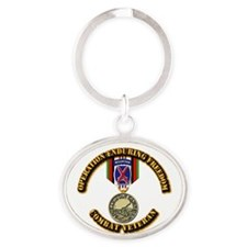 Operation Enduring Freedom - 10th Mt Oval Keychain