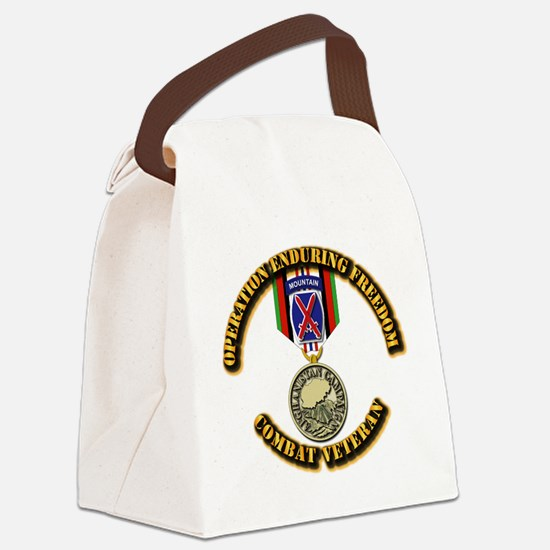 Operation Enduring Freedom - 10th Canvas Lunch Bag
