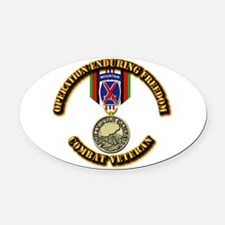 Operation Enduring Freedom - 10th Oval Car Magnet