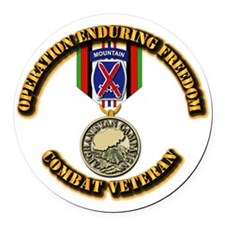 Operation Enduring Freedom - 10th Round Car Magnet