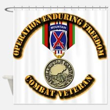 Operation Enduring Freedom - 10th M Shower Curtain
