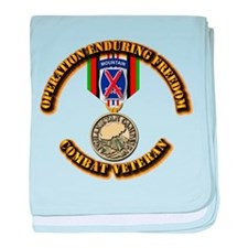 Operation Enduring Freedom - 10th Mtn baby blanket