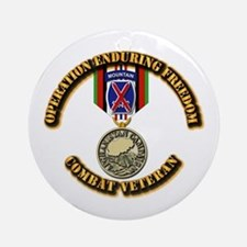 Operation Enduring Freedom - 10th Ornament (Round)