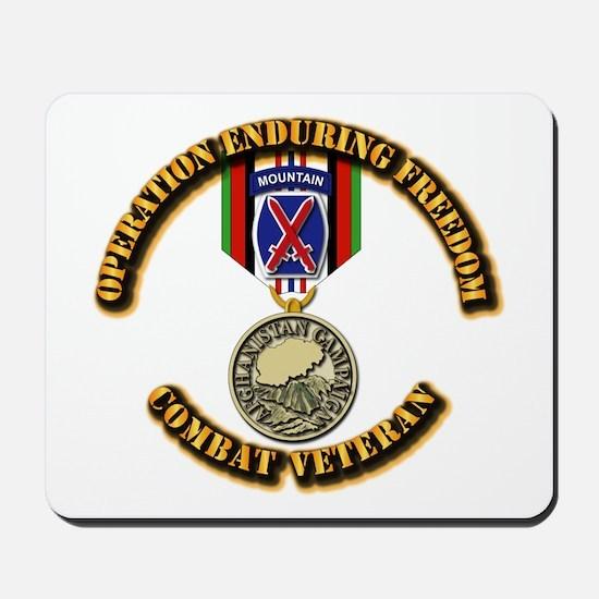Operation Enduring Freedom - 10th Mtn Di Mousepad