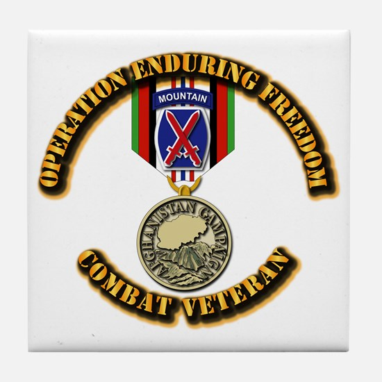Operation Enduring Freedom - 10th Mtn Tile Coaster