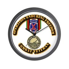 Operation Enduring Freedom - 10th Mtn D Wall Clock