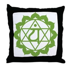 Cute Anahata Throw Pillow
