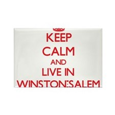 Keep Calm and Live in Winston-Salem Magnets