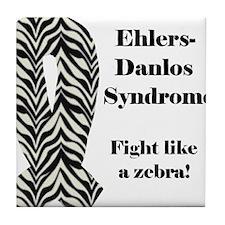 EDS Fight Like A Zebra Tile Coaster