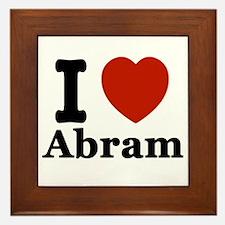 I love Abram Framed Tile