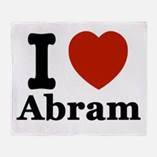 I love Abram Throw Blanket