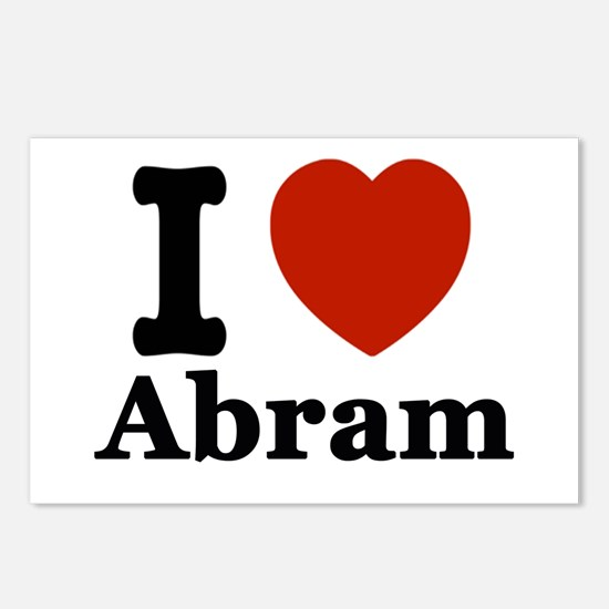 I love Abram Postcards (Package of 8)