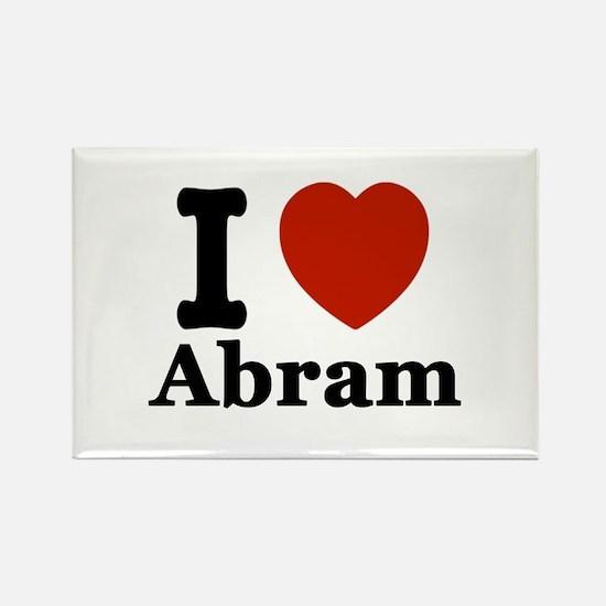 I love Abram Rectangle Magnet